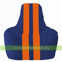Кресло мешок Спортинг синий - оранжевый С1.1-127