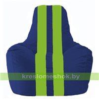 Кресло мешок Спортинг синий - салатовый С1.1-119