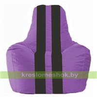 Кресло мешок Спортинг сиреневый - чёрный С1.1-101