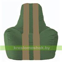 Кресло мешок Спортинг тёмно-зелёный - бежевый  С1.1-60