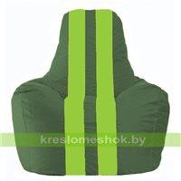 Кресло мешок Спортинг тёмно-зелёный - салатовый С1.1-63