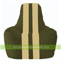 Кресло мешок Спортинг тёмно-оливковый - светло-бежевый С1.1-54