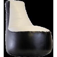 Кресло мешок Чил Аут экокожа черно-белое