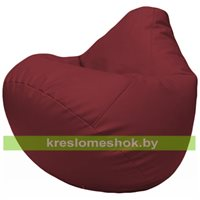 Бескаркасное кресло-мешок Груша Г2.3-21 бордовый