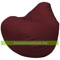 Бескаркасное кресло-мешок Груша Г2.3-32 бордовый
