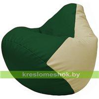 Бескаркасное кресло-мешок Груша Г2.3-0110 зелёный, светло-бежевый