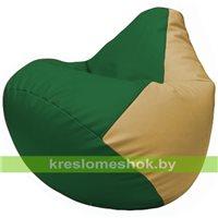 Бескаркасное кресло-мешок Груша Г2.3-0113 зелёный, бежевый