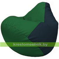 Бескаркасное кресло-мешок Груша Г2.3-0115 зелёный, синий