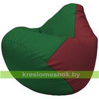 Бескаркасное кресло-мешок Груша Г2.3-0121 зелёный, бордовый