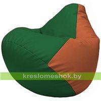 Бескаркасное кресло-мешок Груша Г2.3-0123 зелёный, оранжевый