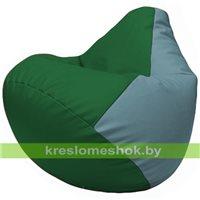 Бескаркасное кресло-мешок Груша Г2.3-0136 зелёный, голубой