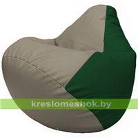 Бескаркасное кресло-мешок Груша Г2.3-0201 светло-серый, зелёный
