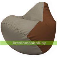 Бескаркасное кресло-мешок Груша Г2.3-0207 светло-серый, коричневый