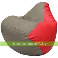Бескаркасное кресло-мешок Груша Г2.3-0209 светло-серый, красный