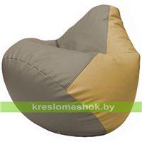 Бескаркасное кресло-мешок Груша Г2.3-0213 светло-серый, бежевый