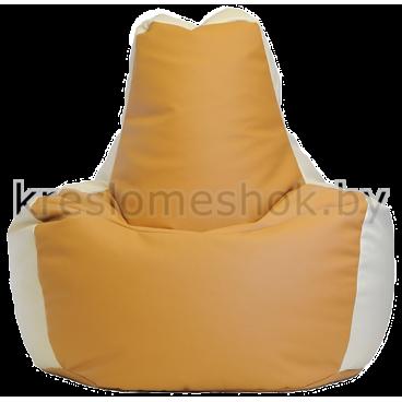Кресло мешок Спортинг экокожа песочно-белый