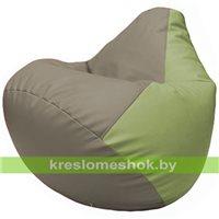 Бескаркасное кресло-мешок Груша Г2.3-0219 светло-серый, оливковый