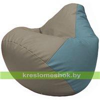 Бескаркасное кресло-мешок Груша Г2.3-0236 светло-серый, голубой