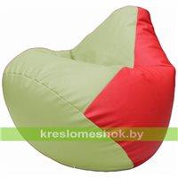 Бескаркасное кресло-мешок Груша Г2.3-0409 светло-салатовый, красный
