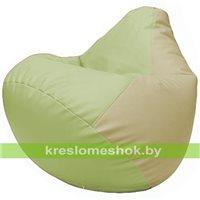 Бескаркасное кресло-мешок Груша Г2.3-0410 светло-салатовый, светло-бежевый