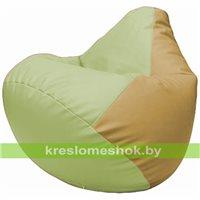 Бескаркасное кресло-мешок Груша Г2.3-0413 светло-салатовый, бежевый