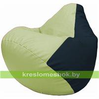 Бескаркасное кресло-мешок Груша Г2.3-0415 светло-салатовый, синий