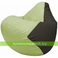 Бескаркасное кресло-мешок Груша Г2.3-0416 светло-салатовый, чёрный