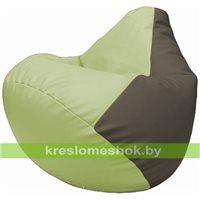 Бескаркасное кресло-мешок Груша Г2.3-0417 светло-салатовый, серый