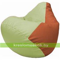 Бескаркасное кресло-мешок Груша Г2.3-0423 светло-салатовый, оранжевый