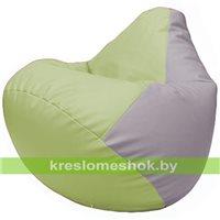 Бескаркасное кресло-мешок Груша Г2.3-0425 светло-салатовый, сиреневый