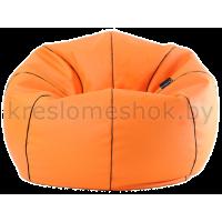 Кресло мешок Мяч баскетбольный экокожа (100 х 100 см) оранжевый