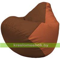 Бескаркасное кресло-мешок Груша Г2.3-0723 коричневый, оранжевый