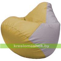 Бескаркасное кресло-мешок Груша Г2.3-0825 охра, сиреневый