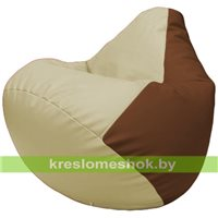 Бескаркасное кресло-мешок Груша Г2.3-1007 светло-бежевый, коричневый