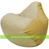 Бескаркасное кресло-мешок Груша Г2.3-1008 светло-бежевый, охра