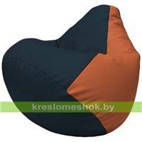 Бескаркасное кресло-мешок Груша Г2.3-1523 синий, оранжевый