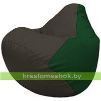 Бескаркасное кресло-мешок Груша Г2.3-1601 чёрный, зелёный