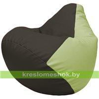 Бескаркасное кресло-мешок Груша Г2.3-1604 чёрный, светло-салатовый