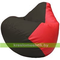 Бескаркасное кресло-мешок Груша Г2.3-1609 чёрный, красный