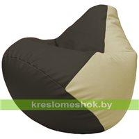 Бескаркасное кресло-мешок Груша Г2.3-1610 чёрный, светло-бежевый