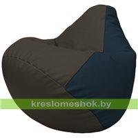Бескаркасное кресло-мешок Груша Г2.3-1615 чёрный, синий