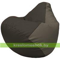 Бескаркасное кресло-мешок Груша Г2.3-1617 чёрный, серый