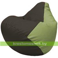 Бескаркасное кресло-мешок Груша Г2.3-1917 чёрный, оливковый