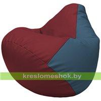 Бескаркасное кресло-мешок Груша Г2.3-2103 бордовый, синий