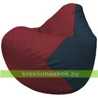 Бескаркасное кресло-мешок Груша Г2.3-2115 бордовый, синий