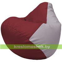 Бескаркасное кресло-мешок Груша Г2.3-2125 бордовый, сиреневый