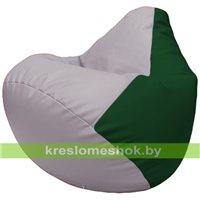Бескаркасное кресло-мешок Груша Г2.3-2501 сиреневый, зелёный