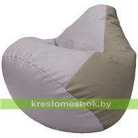 Бескаркасное кресло-мешок Груша Г2.3-2502 сиреневый, светло-серый