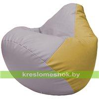 Бескаркасное кресло-мешок Груша Г2.3-2508 сиреневый, охра