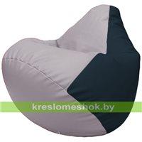 Бескаркасное кресло-мешок Груша Г2.3-2515 сиреневый, синий